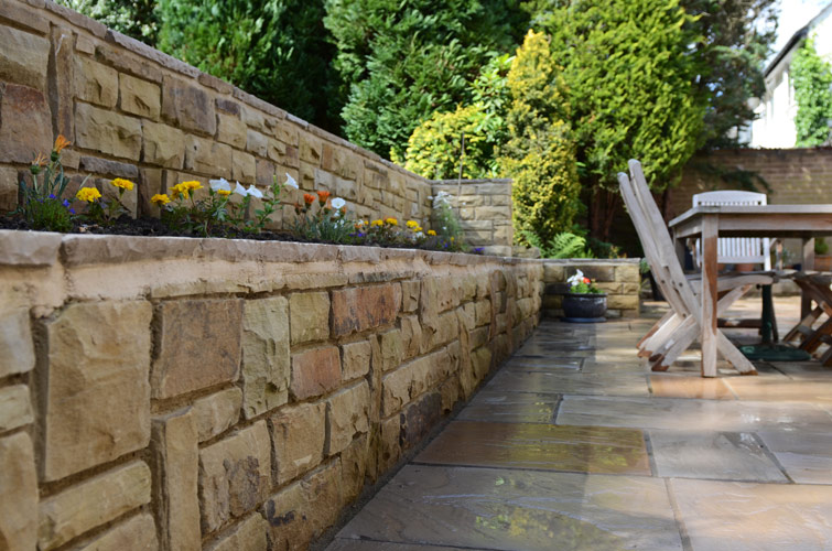 Garden Patio and Walling