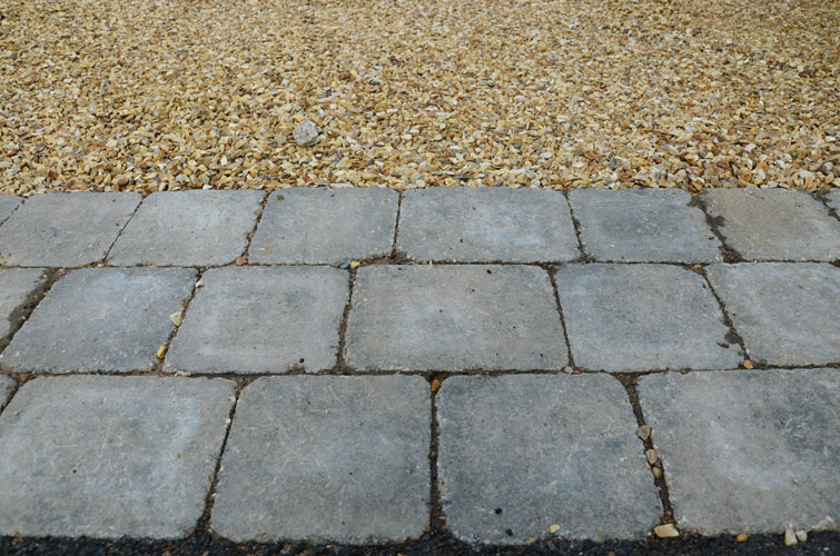Gravel Driveway with Block Paving Boarder